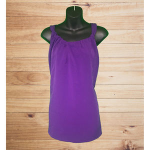 AVENUE STUDIO Sleeveless Purple Gathered Blouse!